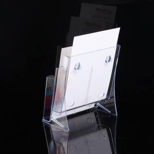 3 tier clear acrylic tabletop sign holders