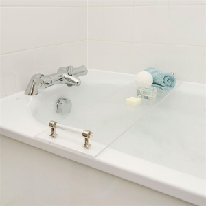 Luxury acrylic bath tub tray