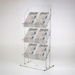 3 tier plexiglass book shelf