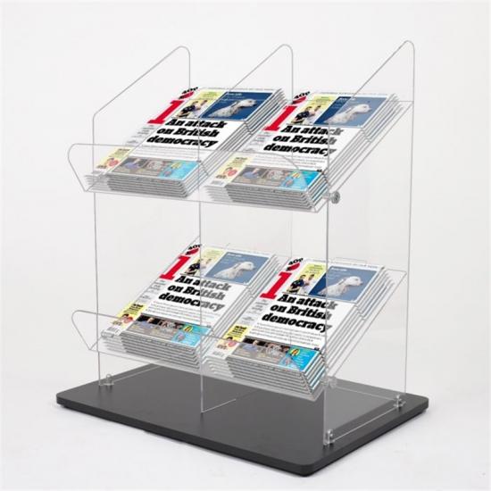 Office Library 2 Tier Acrylic Magazine