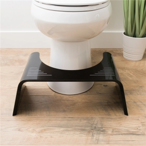 acrylic slim ghost bath stool