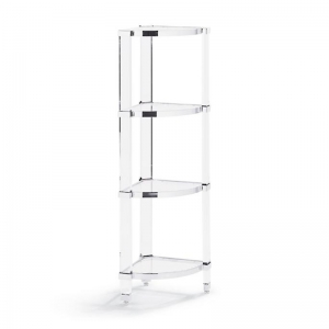 Acrylic bookcase corner shelf