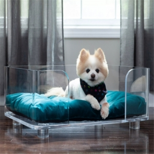 clear acrylic pet bed