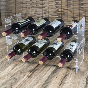 Clear lucite champagne holder rack