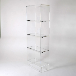 clear leaning acrylic bookshelf for sale