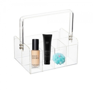 clear acrylic portable flatware caddy