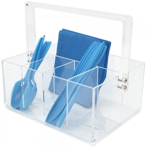 acrylic flatware caddy