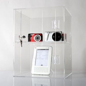 acrylic display cabinet with lock