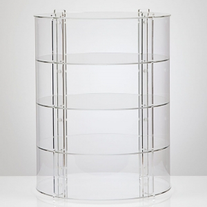 Acrylic Circular Display Case cabinet with adjustment tiers