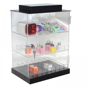 3 tiers acrylic cigarette display box