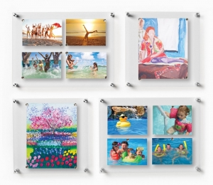 acrylic floating photo frame