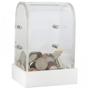 donating box suggestion box clear acrylic