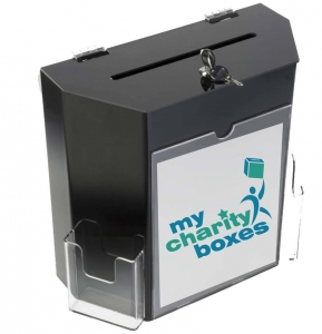 acrylic donation lockable box
