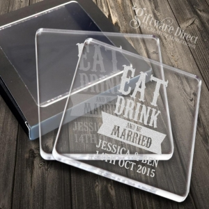 acrylic cocktail napkin coasters