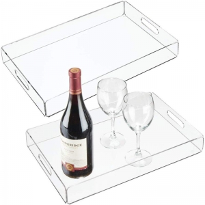 acrylic food tray with handles