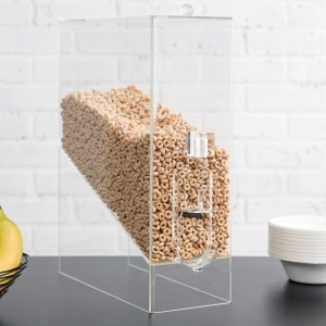 acrylic dry food dispenser