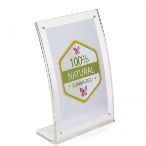clear perspex sign holder