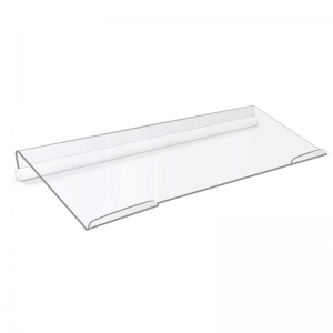 Slanted Z shaped clear acrylic computer keyboard stand