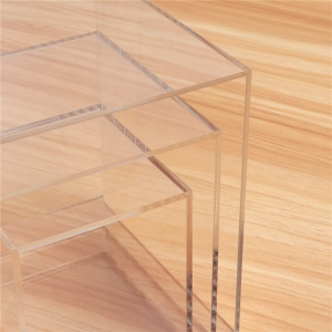 Square transparent acrylic box persprx cubes for display