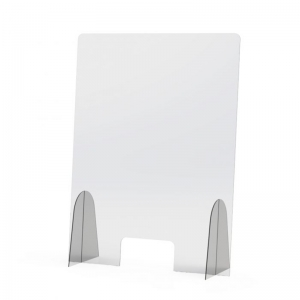 Detachable acrylic protective shield screen perspex sneeze guard